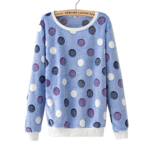 Autumn Winter Stars Printed Sweatshirts Long Sleeve O-neck Women Girl Cute Hoodiesuotelab-uotelab