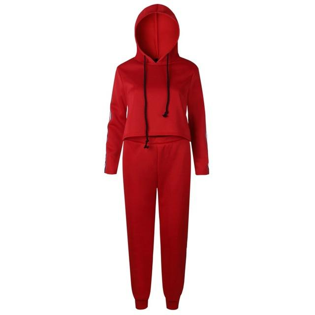 Liva Girl New Casual Tracksuit Women 2 Piece Set Top And Pantsuotelab-uotelab