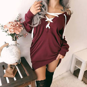 Hot Retro 2017 Fashion Women Casual Long Sleeve Loose Hoodie Long Pulloveruotelab-uotelab