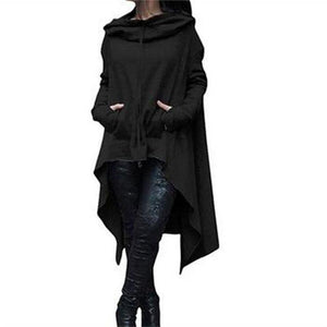 5XL Plus Size Women Sweatshirt 2018 Autumn Loose Hooded Outwear Hoodiesuotelab-uotelab