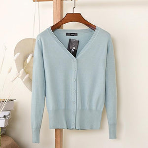 Knitting Cardigan Women Coat Solid 27 Color Spring and Autumn Fashionuotelab-uotelab