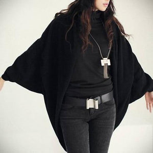 Women's Batwing Top Knit Cape Cardigan three quarter sleeve Knitwear Autumn Winteruotelab-uotelab