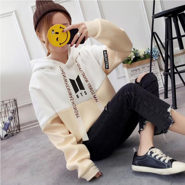 New EXO Women Sweatshirt Hoodies BTS Love Yourself Tear Hot Print Girlsuotelab-uotelab
