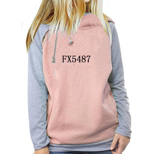 2018 New Fashion Coffee Print Tops Sweatshirts Hoodies Women Thick Funnyuotelab-uotelab