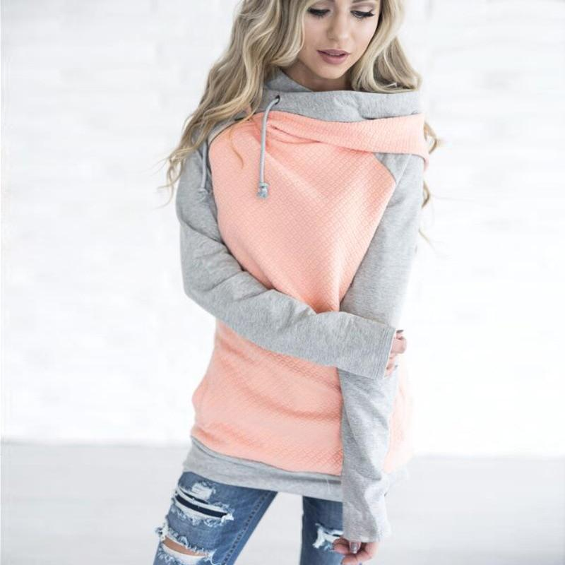 2018 Autumn Women Solid Color Sweatshirts Zipper Casual Long Sleeve Ladiesuotelab-uotelab
