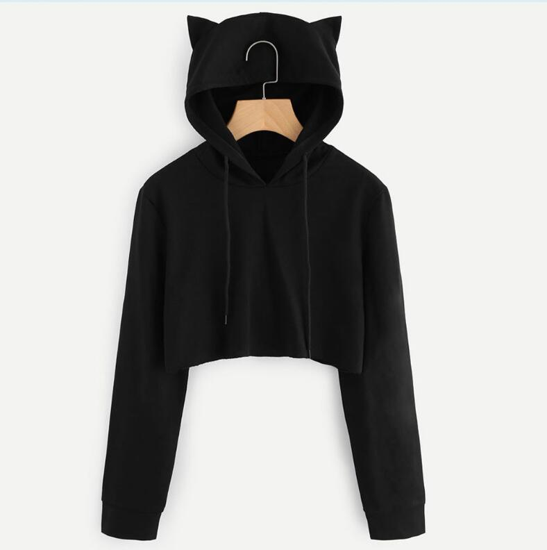 2018 autumn and winter new women's solid color hooded Sweatshirtuotelab-uotelab