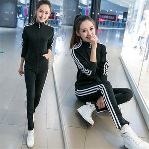 2018 Hot Sale young Lady Tracksuit Women Sweatshirt +Pant Track suit 2uotelab-uotelab