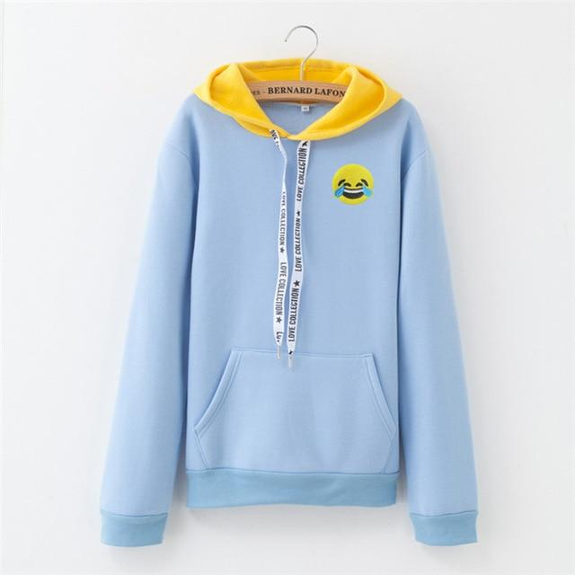 Casual Autumn M-XXXL Color Patchwork Hoodie Women Long Sleeve Cute Contrast Hoodeduotelab-uotelab