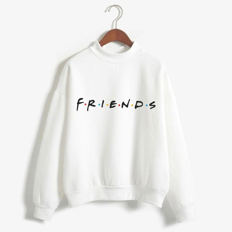 2018 Friends Tv Show Turtleneck Pullover Candy White Fashion Women Hoodiesuotelab-uotelab