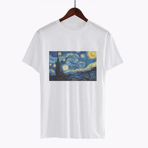 Women Fashion Tees Tops Vincent Willem Van Gogh Post-Impressionism Printed Clothes Plusuotelab-uotelab