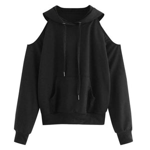2018 autumn women's hoodies drop-shoulder sweatshirt hoodie korean style kpop clothes casualuotelab-uotelab