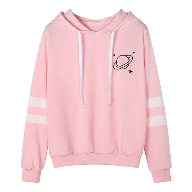 Women Hoodies Hooded Long Sleeve Sweatshirt Girls Hip Hop Hoodie Autumnuotelab-uotelab