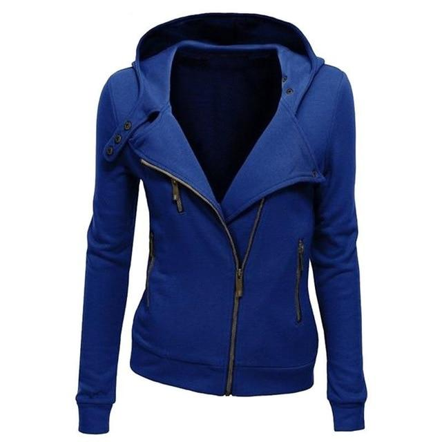 Fashion Hoodies Sweatshirts Women Long Sleeve Hoodies Jackets Zipper Hoody Jumper Overcoatuotelab-uotelab