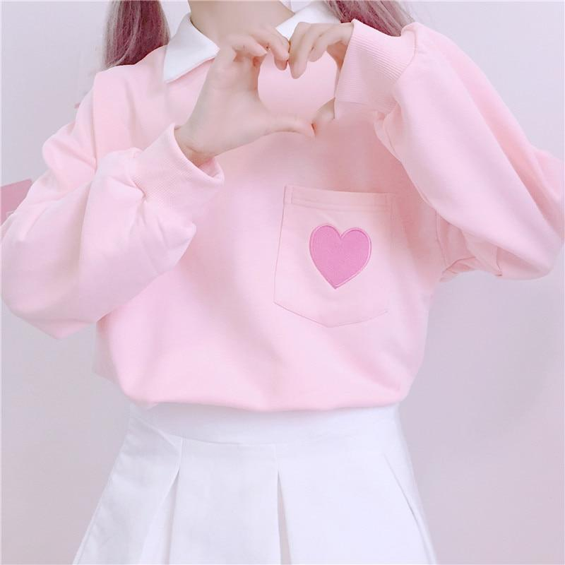 2018 Spring Women Korean Version Loose Stitching Embroidery Tide Long-Sleeved Hood Sweatershirtuotelab-uotelab