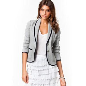 Women Blazer Suit Autumn Casual Button Slim Work Office Short Blazer Jacketuotelab-uotelab