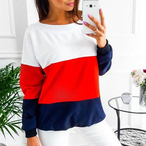 Lace up Bandage Long Sleeve Sweatshirt Hoodie Loose Casual Tops Tee Shirtuotelab-uotelab