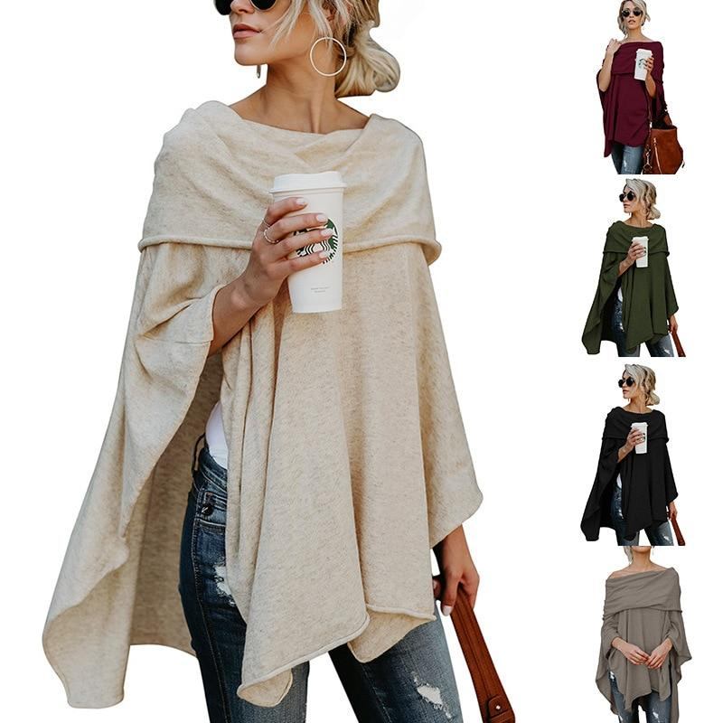Spring Women Long Sweatshirts Scarf Collar Plus Size XL Long Sleeves Casualuotelab-uotelab