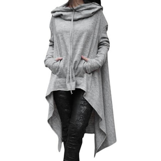 Casual Long Sleeve Hoodies Sweatshirt Women Hooded Sweatshirts Plus Size Loose Coveruotelab-uotelab