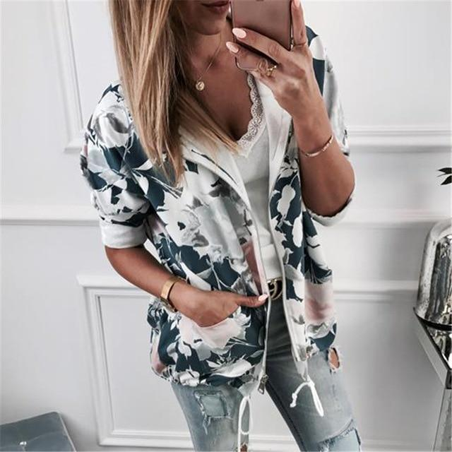 Female Sweatshirts 2018 Autumn Winter Fashion Floral Print Womens Hoodie Long Sleeveuotelab-uotelab