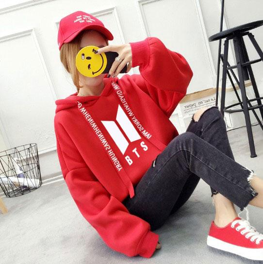New Fashion Harajuku Kawaii Tops BTS Hoodie Bangtan Boys Kpop Clothes Womenuotelab-uotelab