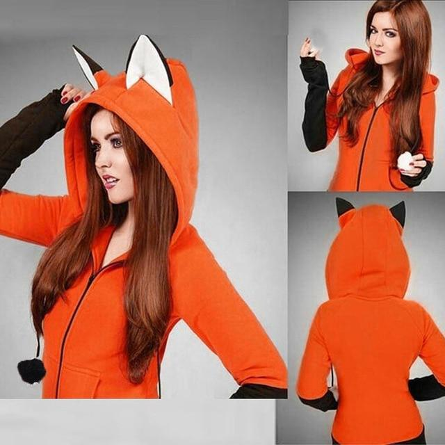 2018 moletom bts kpop Fox Ears Hooded Sweatshirts Women Long Sleeve Coatuotelab-uotelab