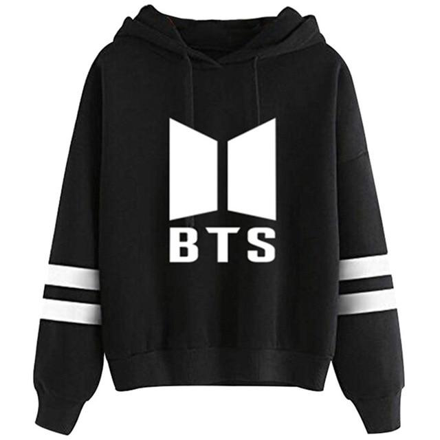 BTS Hoodies Women New Kpop BTS Bangtan Autumn Fleece Hooded Sweatshirt Harajukuuotelab-uotelab