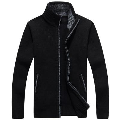 2018 Autumn Winter Men's Zipper Knitted Thickened Coat jacket Faux Furuotelab-uotelab