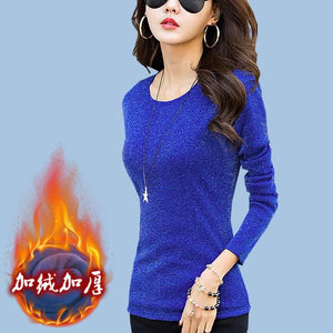 PEONFLY Women Sweater Bright Silk Solid Color Turtleneck Pullover Thickening Long Sleeveuotelab-uotelab