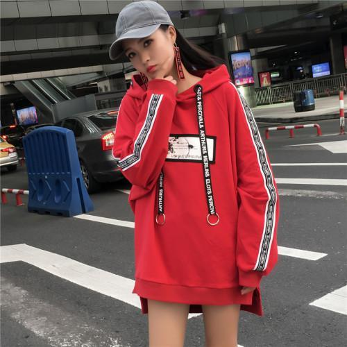 New Loose Harajuku Hoodies Women Letter Print Long Sleeves Oversized Sweatshirt Anduotelab-uotelab