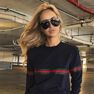 NO.22Street Women Hoodies Fashion Autumn Sweatshirts Long-sleeved Trend Pullover Casual Loose O-Neckuotelab-uotelab