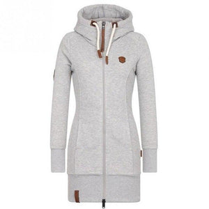 Autumn Winter Long Hoodies Women Sweatshirt Pockets Pullover Hooded Tops Long Sleeveuotelab-uotelab