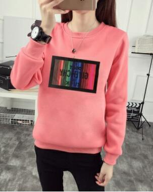 Autumn Winter New Style Hoodies Casual Woman Letters Print Long Sleeve Ouotelab-uotelab