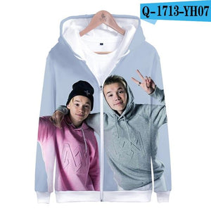 Zipper Jacket Marcus Martinus 3D Hoodies Sweatshirt Women/Men Marcus and Martinusuotelab-uotelab