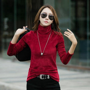Gigogou Women Pullover Sweater 2018 Autumn Winter Turtleneck Pullover Long Sleeve Warmuotelab-uotelab