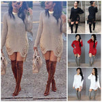 2018 New Hot Fashion Ship Women Winter Long Sleeve Jumper Knitted Sweateruotelab-uotelab
