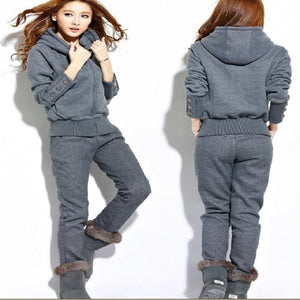 Autumn and winter New Fashion women suit warm women's tracksuits casual setsuotelab-uotelab