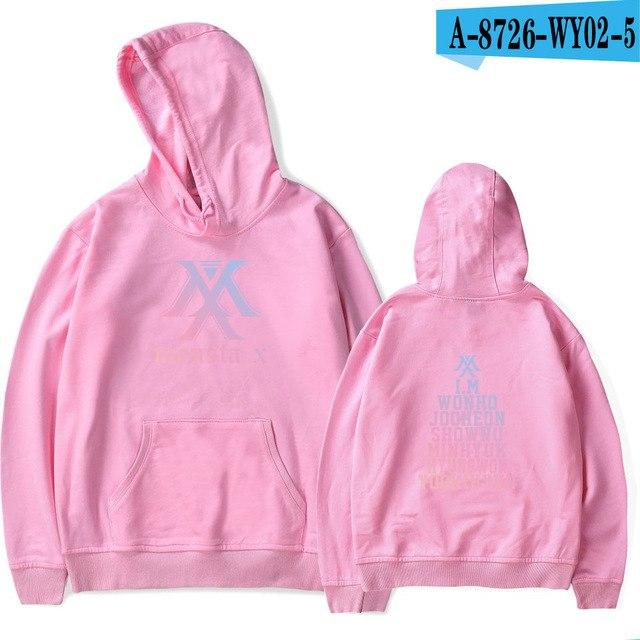 Sweatshirt Women MONSTA X KPOP Fans Clothing Hajuku Pullover Hoodies Fleece Tracksuitsuotelab-uotelab
