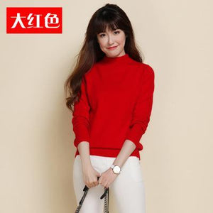 2018 New Autumn 100% Cashmere Sweater Wool High Collar Pullover Women Longuotelab-uotelab