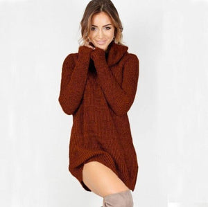 Sexy Womens Cowl Neck Loose Long Sleeve Oversize Sweater Jumper Shirt Topsuotelab-uotelab