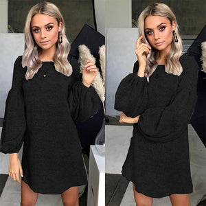 Winter Fashion Clothes Knitted Sweater Dress Women Pullover Pull Femme Long Sleeveuotelab-uotelab
