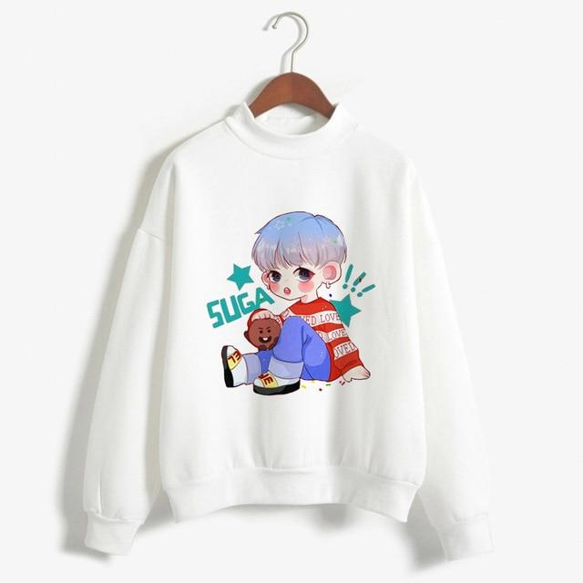 Women Hoodies Sweatshirt Long Shirt Kpop BTS Bangtan Boys Korean Style Fashionuotelab-uotelab