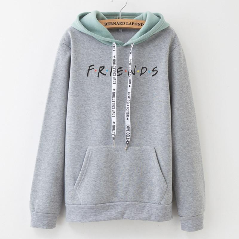 U.S. Classical TV series friends Hoodie Women Men girls patchwork Sweatshirt Fleeceuotelab-uotelab