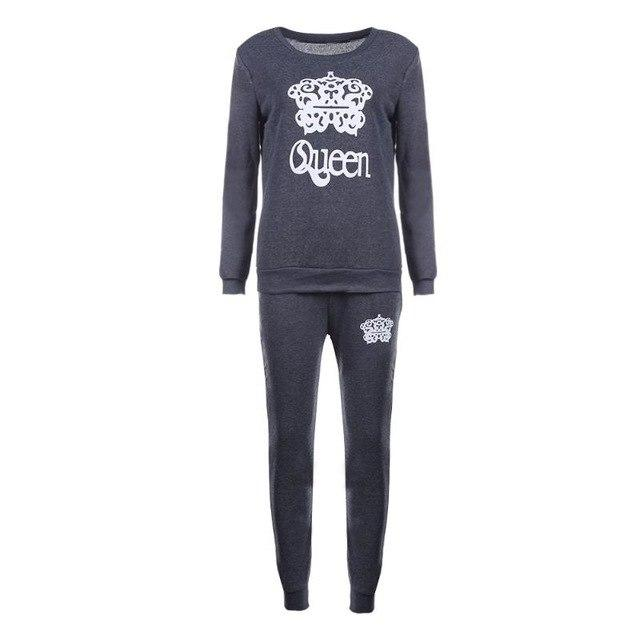 Winter Autumn Two Piece Set tracksuit Women Suits Long Sleeve Stitching Suituotelab-uotelab