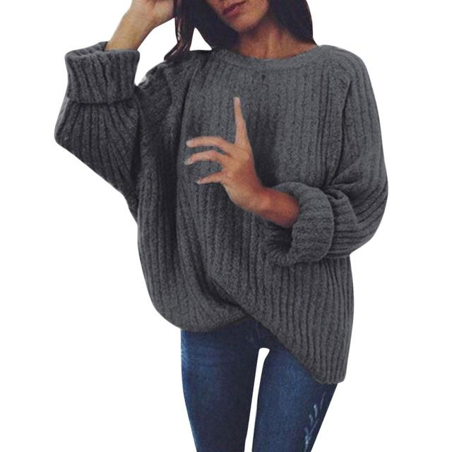 Autumn Winter Women Sweaters And Pullovers Korean Style Long Sleeve Sweater Soliduotelab-uotelab