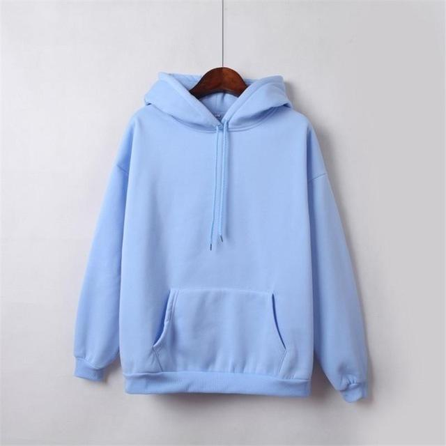 2019 New Social Harajuku Hoodies For Girls Solid Color Hooded Tops Women'suotelab-uotelab