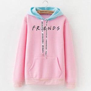 Sweatshirt Long FRIEND printing Bean green color Large Size High Qualityuotelab-uotelab