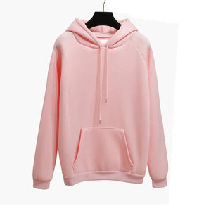 Autumn Winter Fashion Solid color Harajuku Lotus root pink Pullover Thick Looseuotelab-uotelab
