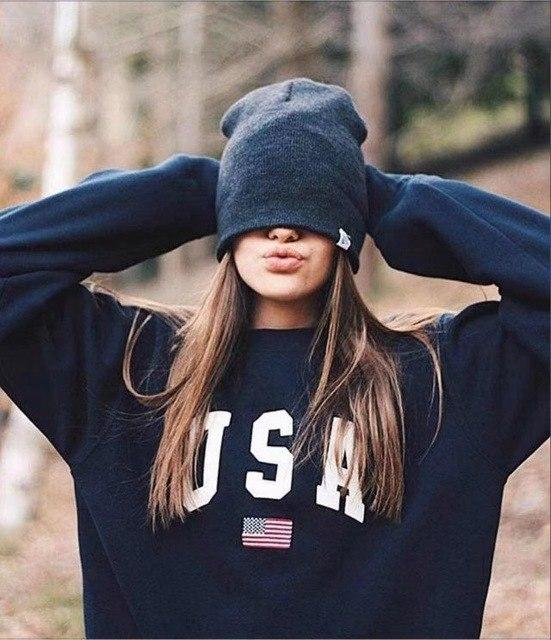 women sweatshirts autumn spring letter usa print hoodies fashion long sleeve hoodeduotelab-uotelab