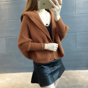 2018 Korean style women cardigans fashion temperament knit autumn and winter shortuotelab-uotelab