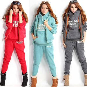 3 pcs/set Fashion long sleeve hoodie sweatshirt + vest + pants 3uotelab-uotelab